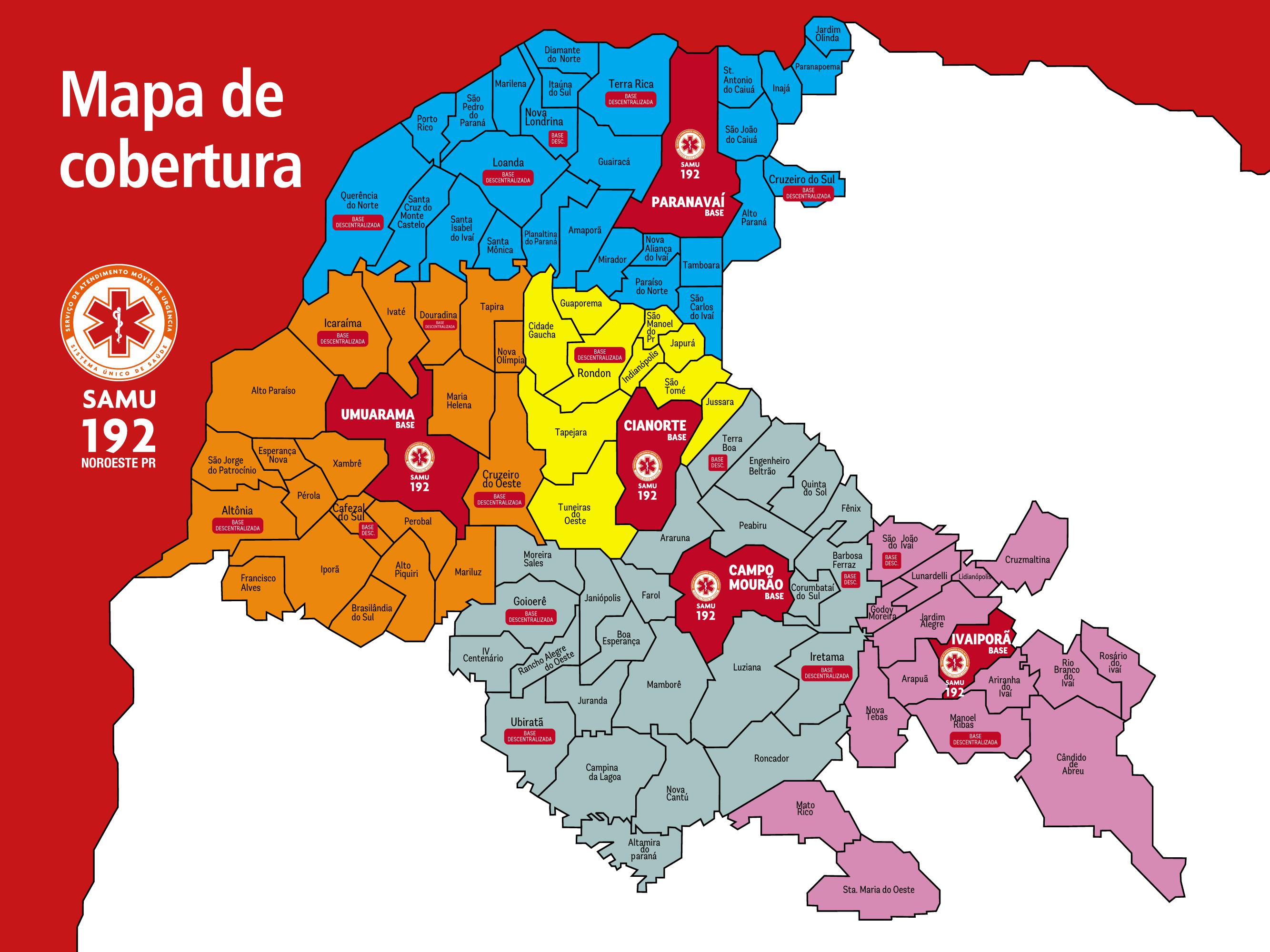 Mapa Bases Centralizadas